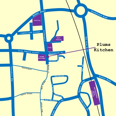 Plums Kitchen Map